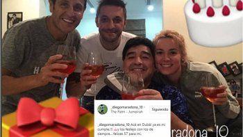 Maradona festeja su cumpleaños