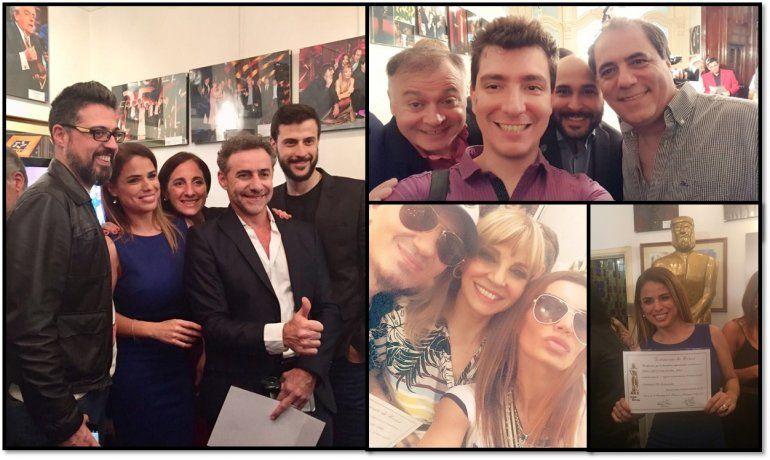 Martín Fierro: los nominados a la radio recibieron su diploma; las fotos y los encuentros
