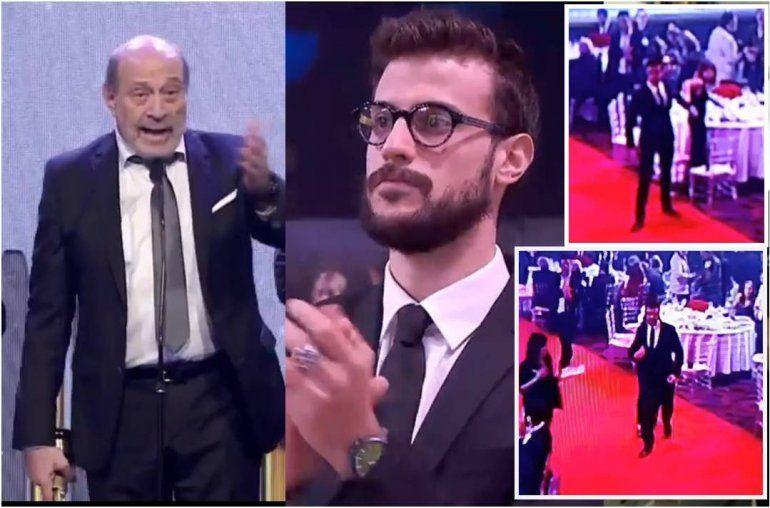 Martín Fierro de radio: gritos e insultos hacia Alfredo Leuco; fuerte reacción de su hijo, Diego