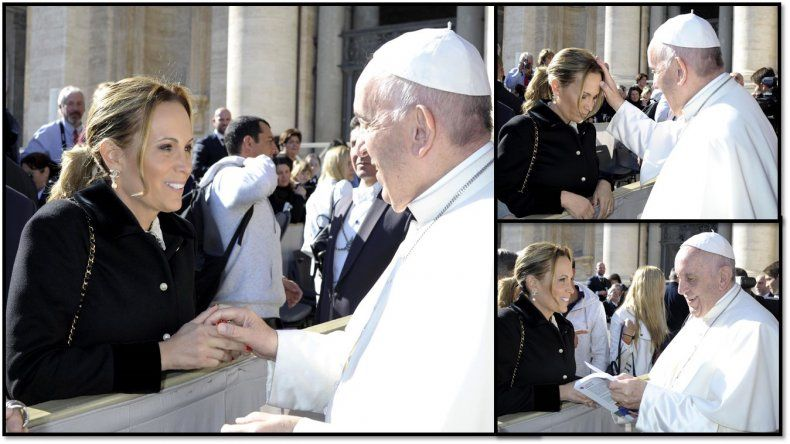 El emocionante encuentro de Natalia Denegri con el Papa Francisco en Roma