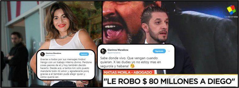 El abogado de Maradona quiere presa a Gianinna y ella desafía: Vénganme a buscar