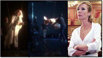 Inés Estévez mostró en las redes cómo se grabó la muerte de su personaje en El maestro