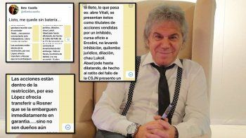 Beto Casella publicó mensajes de la interna por la venta de Indalo y el trasfondo político del caso