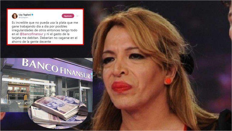 El corralito de Lizy Tagliani: atrapada y sin ahorros por la crisis de Cristóbal López y el Banco Finansur