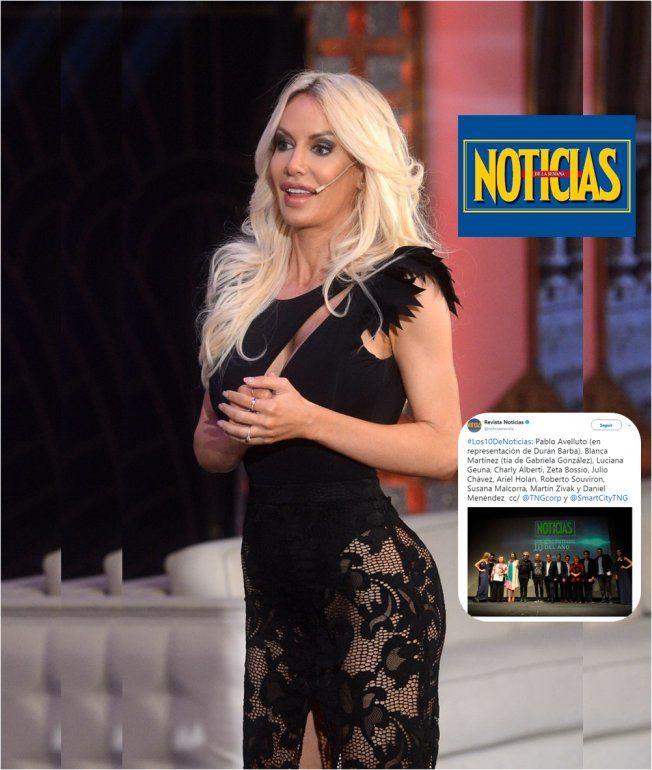Otro bochorno para Luciana Salazar: creyó que era uno de los 10 personajes del año en Noticias, pero no!