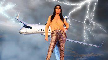 Vuelo de terror: por una tormenta eléctrica Moria casi debe regresar a capital