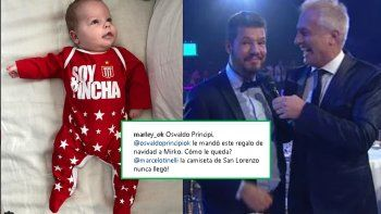 Marley le reclamó a Tinelli el regalo para Mirko: La camiseta de San Lorenzo nunca llegó