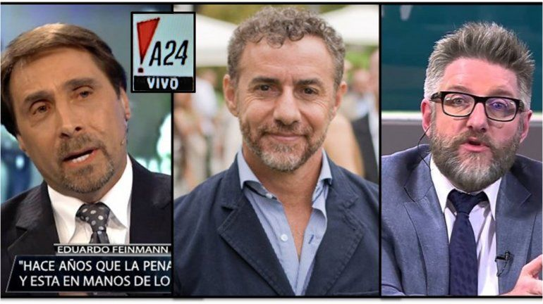 Luis Majul, Eduardo Feinmann y Luis Novaresio: las caras de A24 para el 2018