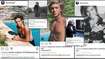 Mariano Martínez no deja de poner likes y comentarios a las fotos del ex de Cande Tinelli