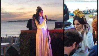 Candelaria Tinelli cantó en el atardecer de Punta del Este