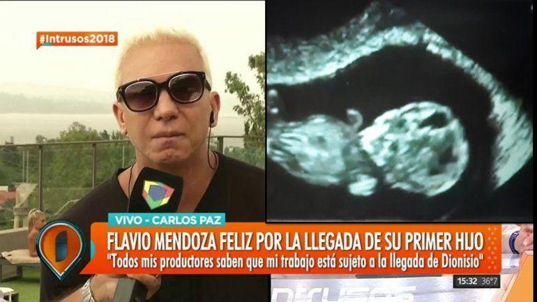 Flavio Mendoza presentó en sociedad a su hijo Dionisio