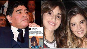 Gianinna postula a su hijo Benjamín para que lleve al altar a Dalma ante la posible ausencia de Diego Maradona
