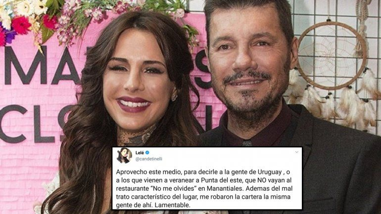 La hija de Tinelli denunció un robo en un restaurante y él salió a bancarla en Twitter