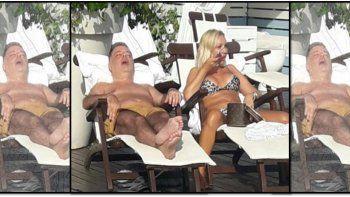 Viralizan una foto de Doman roncando