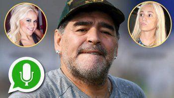 Nuevo audio de Maradona genera un conflicto en la relación  con Rocío