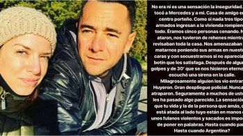 Asalto violento a Mercedes Funes y a su novio: Nos amenazaban con matarnos