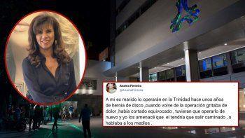Anamá Ferreira sorprendió denunciando al cuestionado Sanatorio de la Trinidad