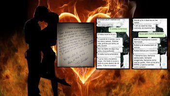 Los chats privados y el libro dedicado de una ex pareja: Te amo