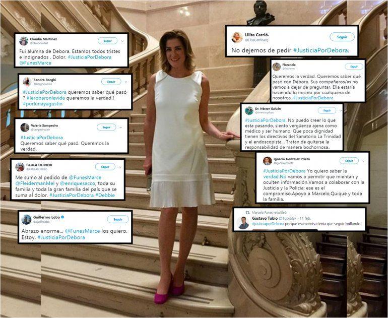 #JusticiaporDebora, el hashtag que promueve el ex marido de Débora Pérez Volpin