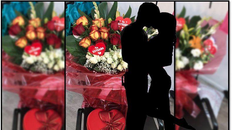 Peleados, él quiso reconquistarla con flores, pero ella lo rechazó