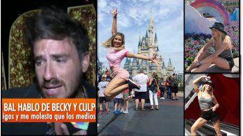 Postales de una ruptura: Fede Bal destrozado en TV y Laurita saltando feliz en Disney