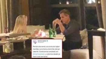 Luciana Salazar anunció que volvió con Redrado: Mentí con la foto de San Valentín