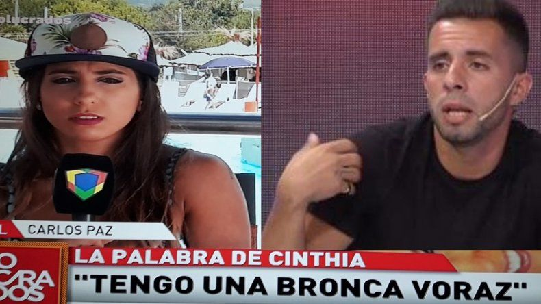 Cinthia Fernández enojada con Defederico lo bloqueó: tengo una bronca voraz