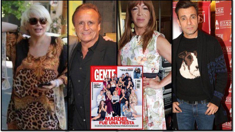 Carmen Barbieri, Miguel del Sel, Martín Bossi y Lizy Tagliani, los ausentes de la tapa de Gente