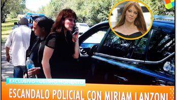 Mirian Lanzoni en un confuso episodio con la policía : quedó detenida