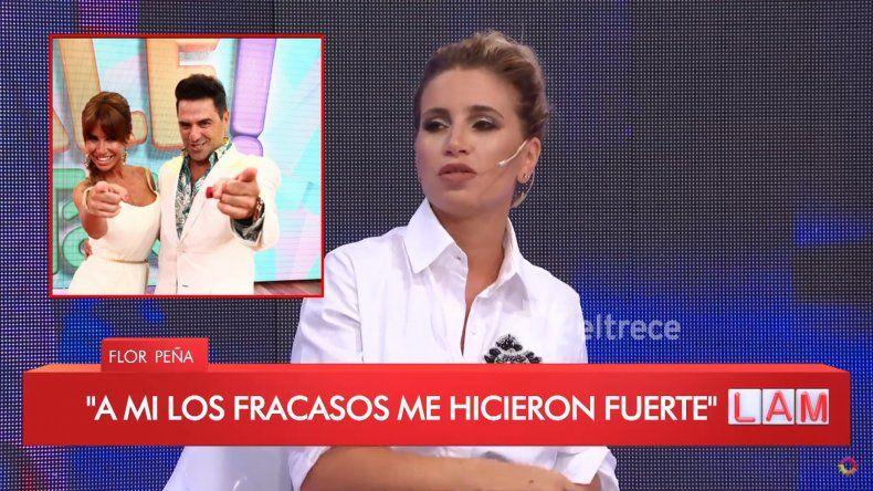Flor Peña habló de su paso por Dale la Tarde y su relación con Iudica: fue mi mayor fracaso