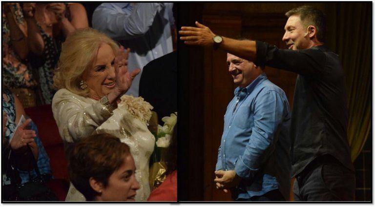 Mirtha fue a ver a Suar y a Chávez y aplaudió de pie