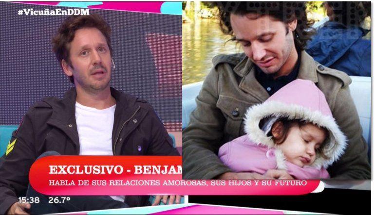 Benjamín Vicuña habló de su primera hija: Se extraña a morir; Blanquita es mi inspiración