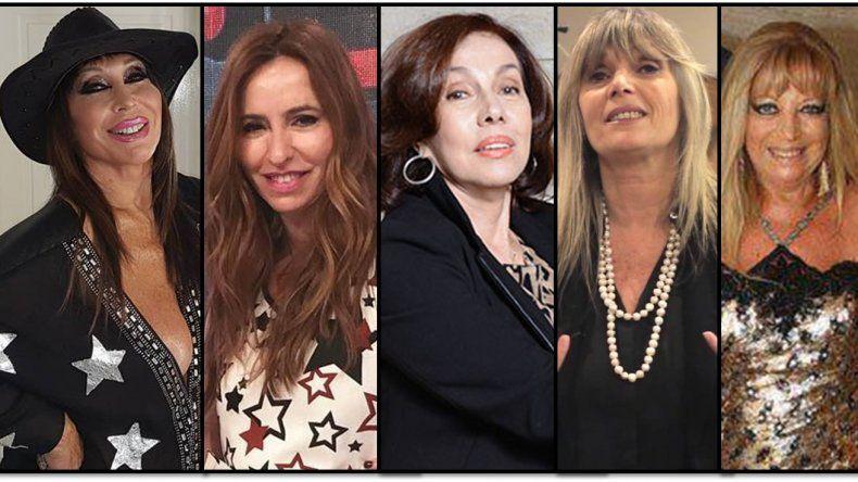 El panel de Moria Casán: Analía Franchín, Nora Cárpena, Mónica Katz y Leonor Viale