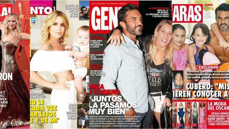A falta de famosos a los que les pasen cosas, Cubero es tapa de dos revistas