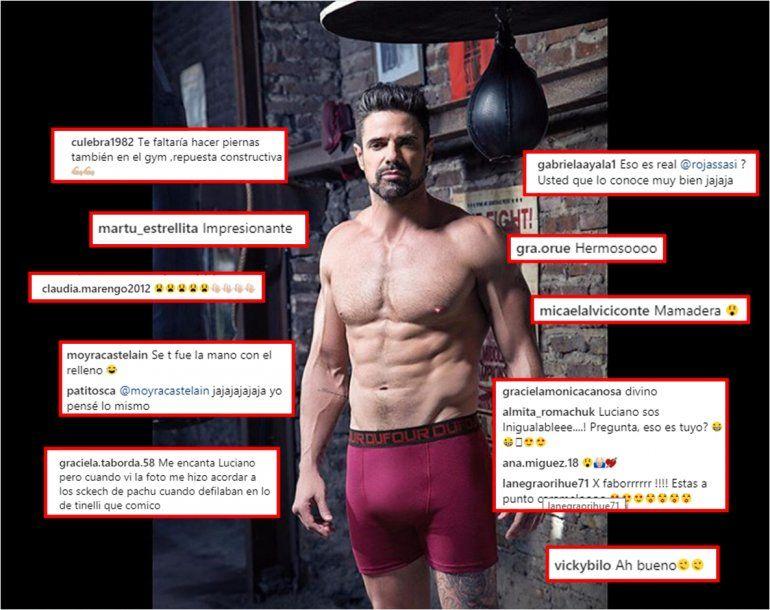 Luciano Castro subió una foto en boxer, y explotaron las redes, a favor y en contra