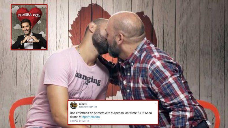 Dos hombres se besaron en Primera cita y las redes homofóbicas estallaron, mostrando su peor cara