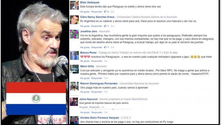 Pettinato escapó a Paraguay, exiliado y atrincherado después de las denuncias, pero le va peor que acá