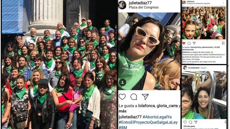 En el Día internacional de la mujer, las famosas también marcharon