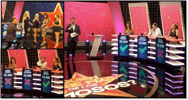 Sol Pérez enseñó su pose en ¿Quién sabe más de los famosos, que fue el segundo programa más visto de América