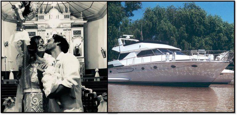 Después de casarse en Carmelo, China Suárez y Vicuña se quedaron sin nafta en un yate en medio del río