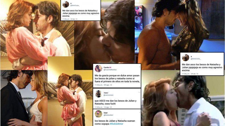 Los tremendos tweets en contra de la pareja de Julián y Natacha, en la época de los besos en Dulce amor