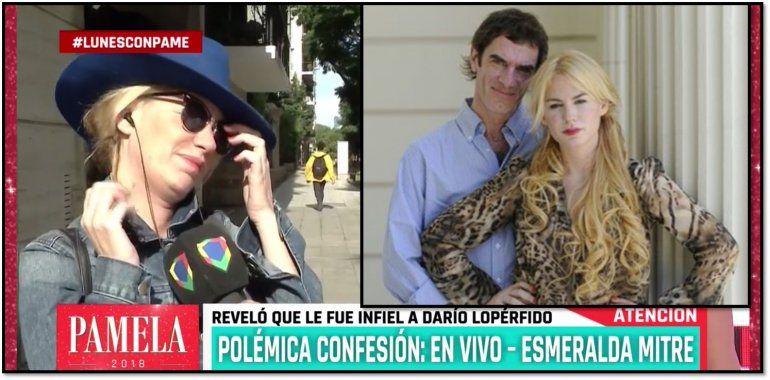Volcó Esmeralda Mitre, después de decir que le fue infiel a Lopérfido: ahora se le traba la lengua al hablar