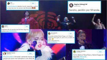 Los Miranda! cantaron (mal) en el final de la serie de Sandro y les llovieron demoledoras críticas en twitter