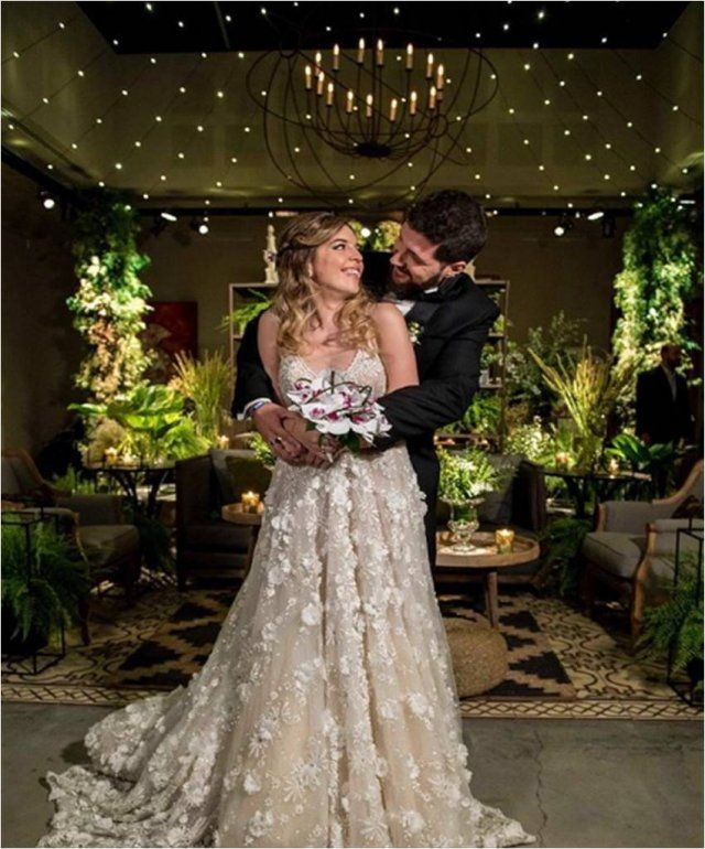 La foto del casamiento de Dalma Maradona: la hija de Diego mostró su vestido de novia