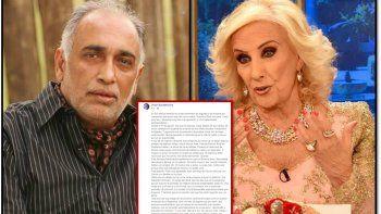 La durísima carta de Gonzalez Oro contra Mirtha: Tu hijo se sentiría avergonzado