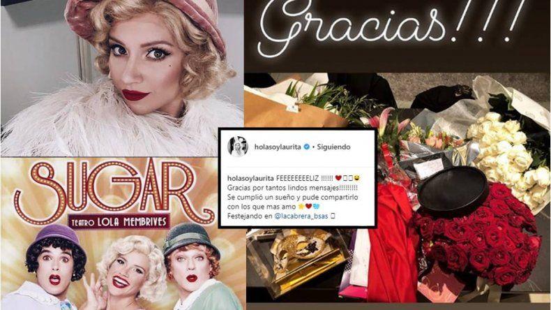 Llegó el momento tan esperado para Laurita Fernández, debutó en Sugar: Feeeeliz, gracias por tantos lindos mensajes