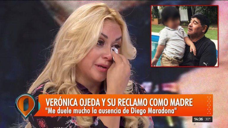 Verónica Ojeda habló de la salud de su hijo: Dieguito no habla por una cuestión emocional y Maradona le inicia acciones legales