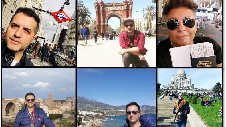 Chimenteros por el mundo: Las fotos de Polino, De Brito, Bremer y Ambrosino de vacaciones