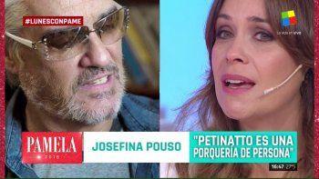 Josefina Pouso se quebró y calificó a Pettinato de lacra