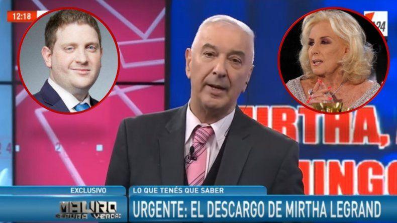 Mirtha enfrenta en feroz interna a Mauro Viale con su hijo Jonatan: Es un mentiroso, un pelot...